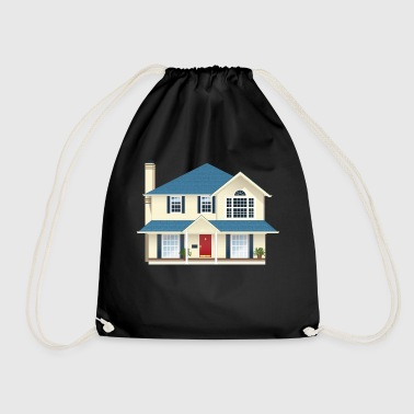 Large house - Drawstring Bag