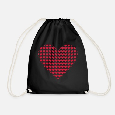 Hearts hearts heart - Drawstring Bag