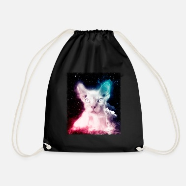 T-shirt Chat Sans Poil Trippy Space Sphynx Cat - Sac à dos cordon