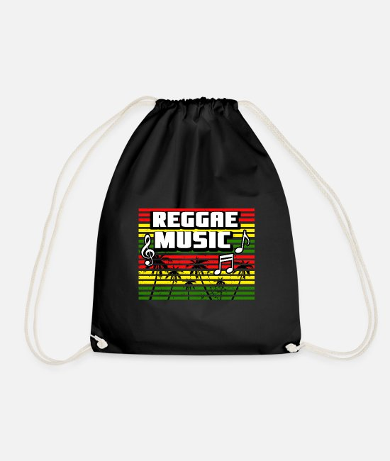 Rasta Bags & Backpacks - reggae music, ragga, dancehall, marley, jamaica - Drawstring Bag black