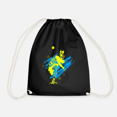 Baseball Players Baseball Player Baseball Player Baseball Abstract - Drawstring Bag