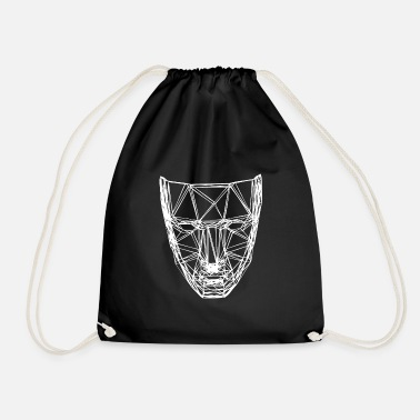 3d A scary white 3D mask - Drawstring Bag
