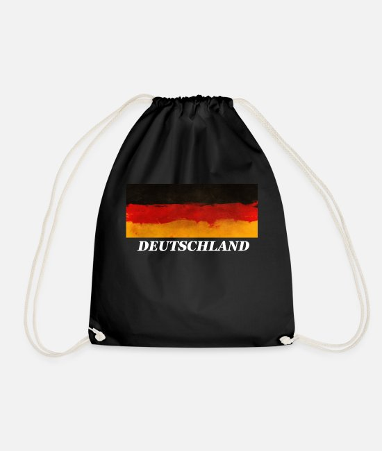 Ball Bags & Backpacks - Germany fan - Drawstring Bag black