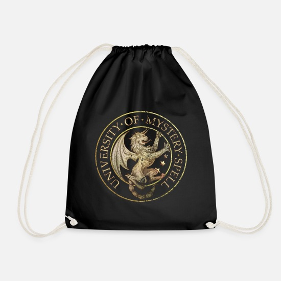 Is It Love Bags & Backpacks - Is It Love? UniversIty Of Mystery Spell - Drawstring Bag black