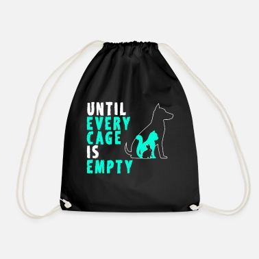 Dog Cat Rabbit Rescue T- shirts - Drawstring Bag