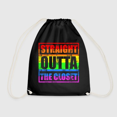 STRAIGHT OUTTA THE CLOSET Gay LGBT Pride - Turnbeutel