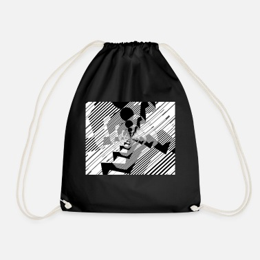 Run Run, run, run - Drawstring Bag
