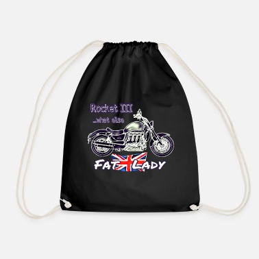 Two Motorcycle Rocket 3 Fat British Lady Bike - Drawstring Bag
