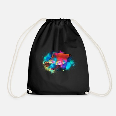 Treasure Chest Treasure treasure chest colorful - Drawstring Bag