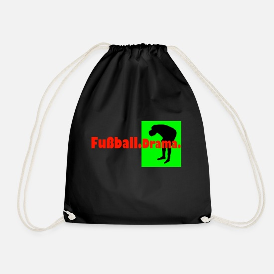 Drama Bags & Backpacks - Football Drama - Drawstring Bag black