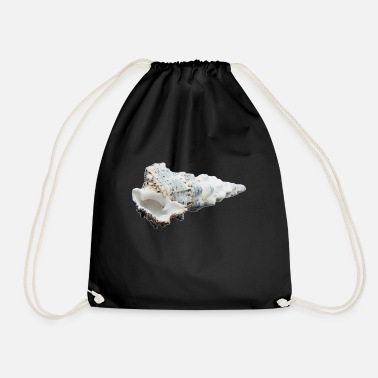 Reminder A shell that reminds of the holiday - Drawstring Bag