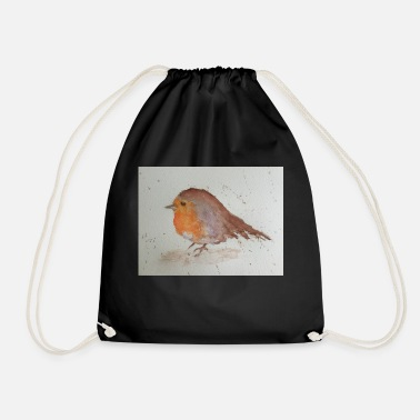 Watercolour Watercolour Robin - Drawstring Bag