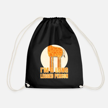 Long giraffe leggy long legs gift idea - Drawstring Bag