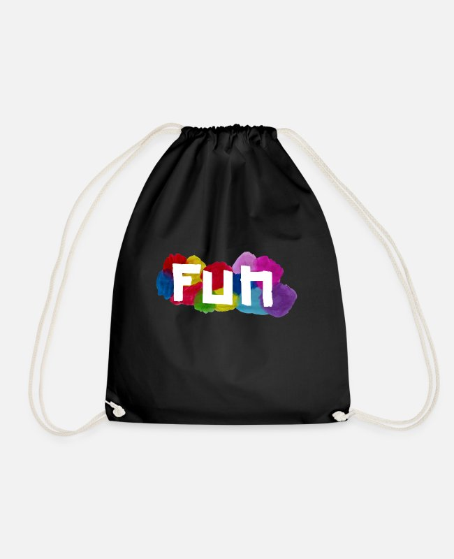 Garden Bags & Backpacks - Fun - Drawstring Bag black