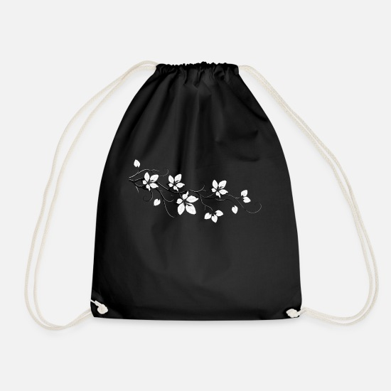 Lotus Blossom Bags & Backpacks - Blätterast. The blossom. Lotus style. - Drawstring Bag black