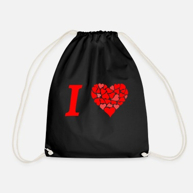 I Love I love I love in Love - Drawstring Bag