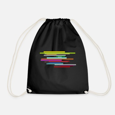 bar pattern - Drawstring Bag