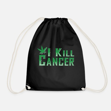 I Kill Cancer - Drawstring Bag
