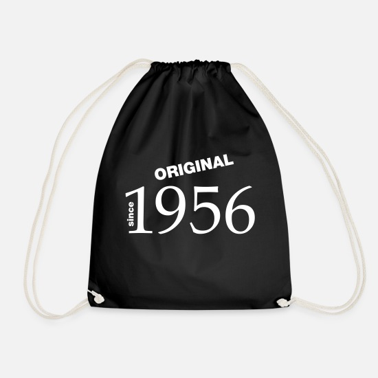 Birthday Bags & Backpacks - 1956 - Drawstring Bag black