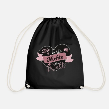 Niece Best niece in the world nieces spell gift - Drawstring Bag