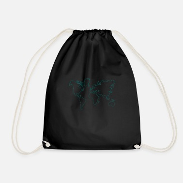 Map map - Drawstring Bag
