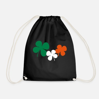 Ireland Shamrock Ireland Shamrocks - Drawstring Bag