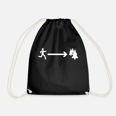Forest forest running - Drawstring Bag