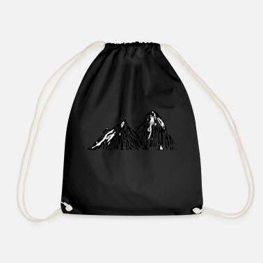 Stick Man Mountain Stick Man - Drawstring Bag