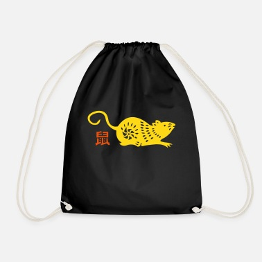 Asia year of the rat (chinese zodiac) - Drawstring Bag