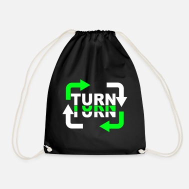 Turn Turn Turn Turn Arrows - Drawstring Bag