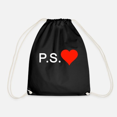 Ps PS Love love heart - Drawstring Bag