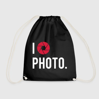 I love photo - Drawstring Bag