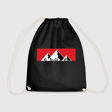 Camping Mountains Alps Mountain - Drawstring Bag
