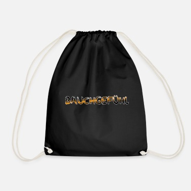 gut feeling - Drawstring Bag