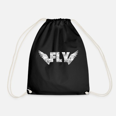 Fly Wing fly flying - Drawstring Bag