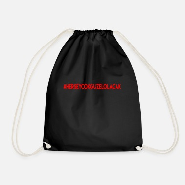 Figure Of Speech Herseycokguzelolacak - Drawstring Bag