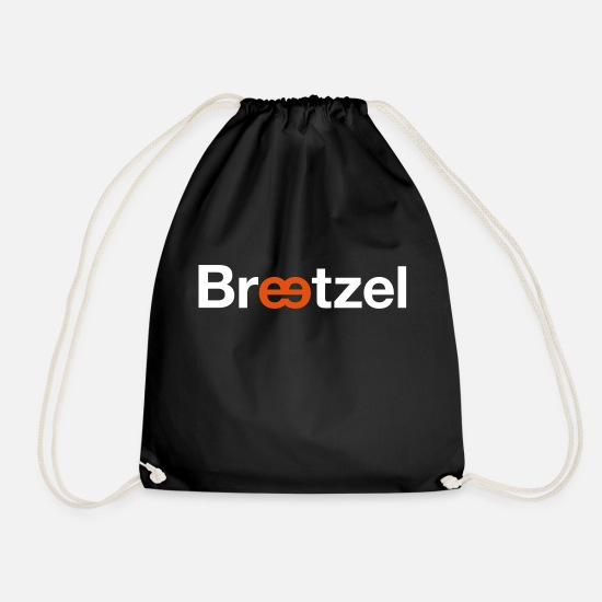 Barrel Bags & Backpacks - pretzel - Drawstring Bag black