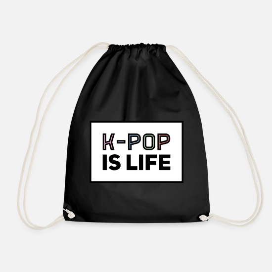 Pop Bags & Backpacks - K-POP - Drawstring Bag black