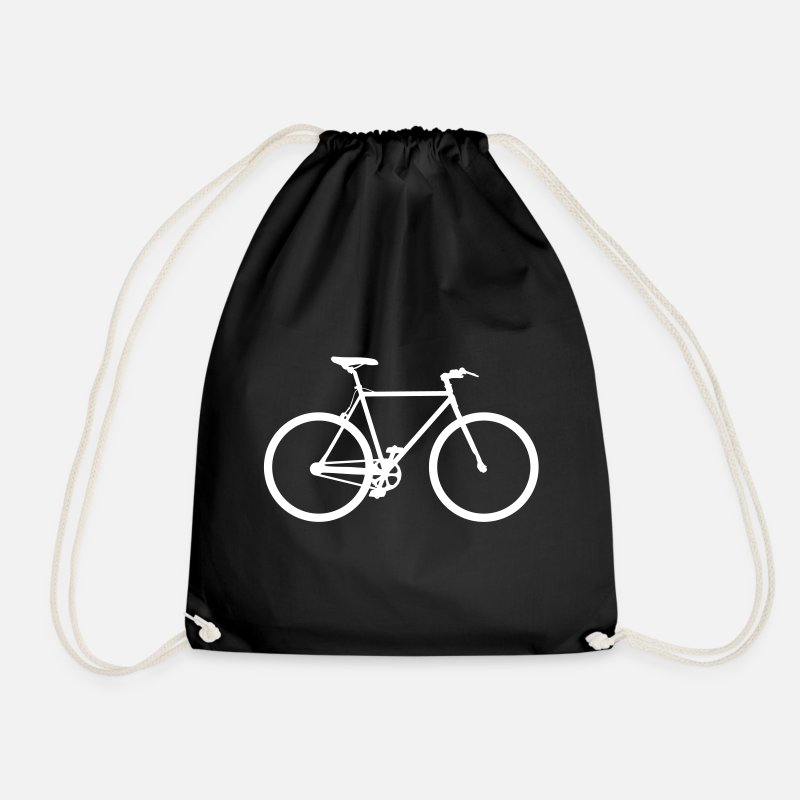 Cycle Bags & Backpacks - Fixie bike cycling cycling cycling - Drawstring Bag black