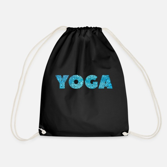 Birthday Bags & Backpacks - Water yoga gift idea - Drawstring Bag black