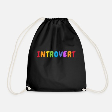 Uncertain introvert - shy - fear - calm - Drawstring Bag