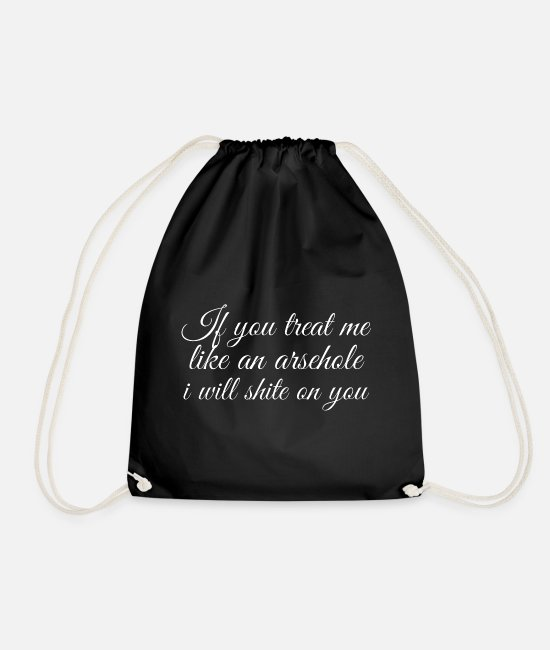 Hashtag Bags & Backpacks - Rude Message - Drawstring Bag black
