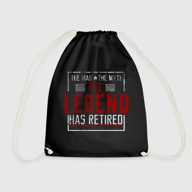 The legend has retired Ruhestand Geschenk Opa - Turnbeutel