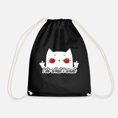 Funny Sassy Cat (Do What I Want) - Drawstring Bag