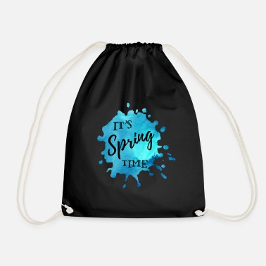 Spring Splash of color blue It's Spring Time - Drawstring Bag