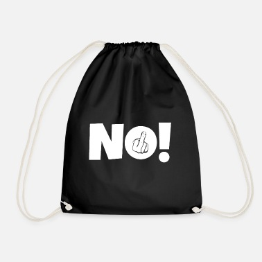 Middle Finger NO! Middle finger stinky finger - Drawstring Bag