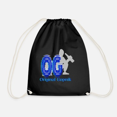 Squatters OG Original Gopnik OG Gopnik squatting Russian - Drawstring Bag