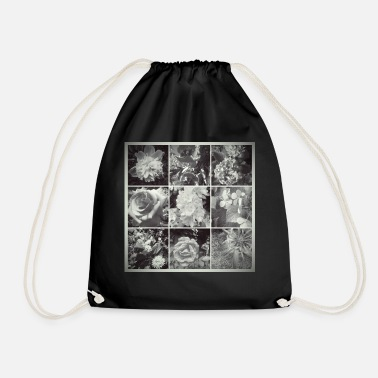 Collage Flowers COLLAGE - Drawstring Bag