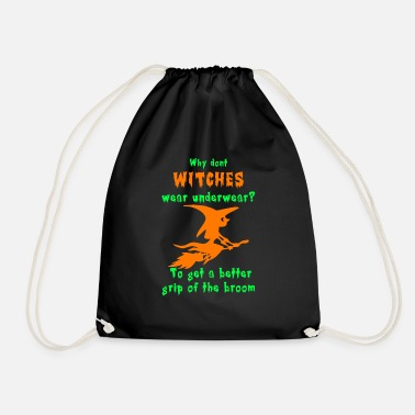 Witch Underwear Witches Wear Underwear? - Drawstring Bag