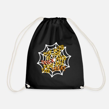 Web WEB - spider web, Halloween design - Drawstring Bag